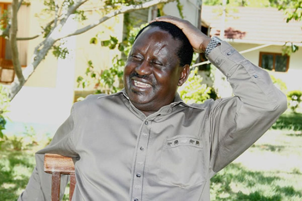 Image result for Raila laughing