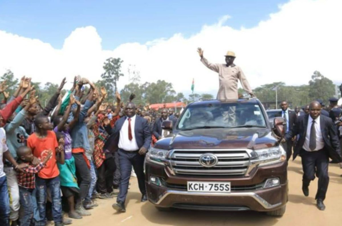 Raila steals show in Narok despite not getting chance to address rally