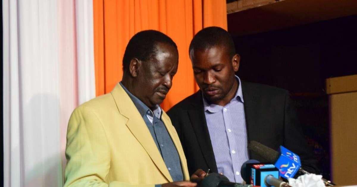 Image result for Edwin Sifuna and Raila Odinga