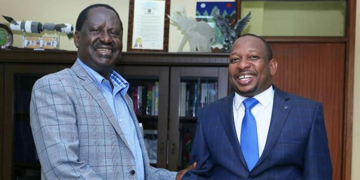 Image result for sonko and raila