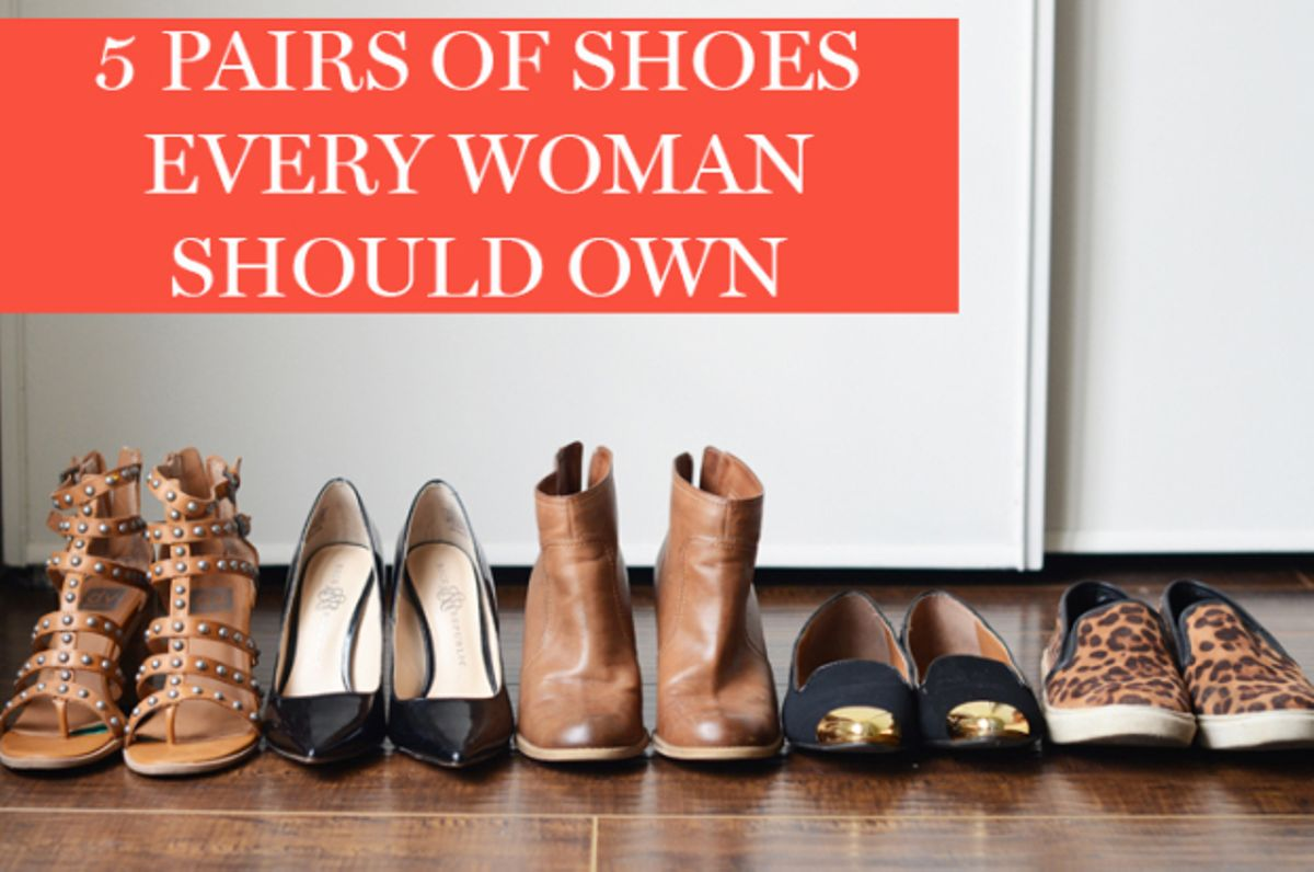 4c7ae079298 8 Types of shoes every woman should have