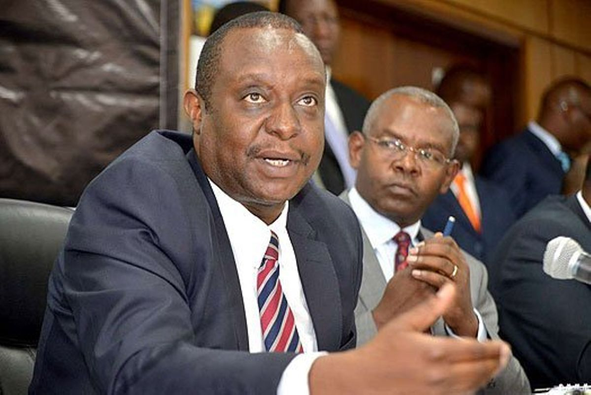 Image result for CS Rotich at DCI in kiambu