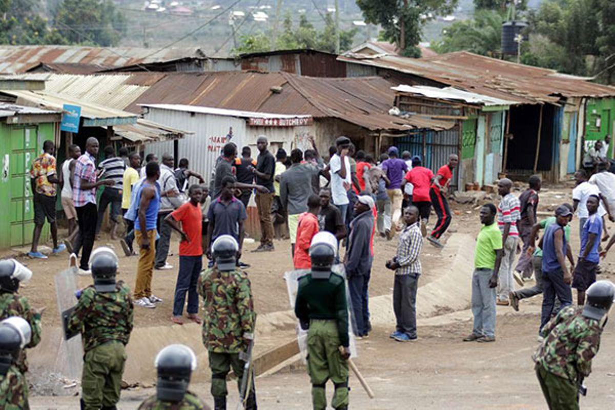 Image result for kangemi residents raid census center