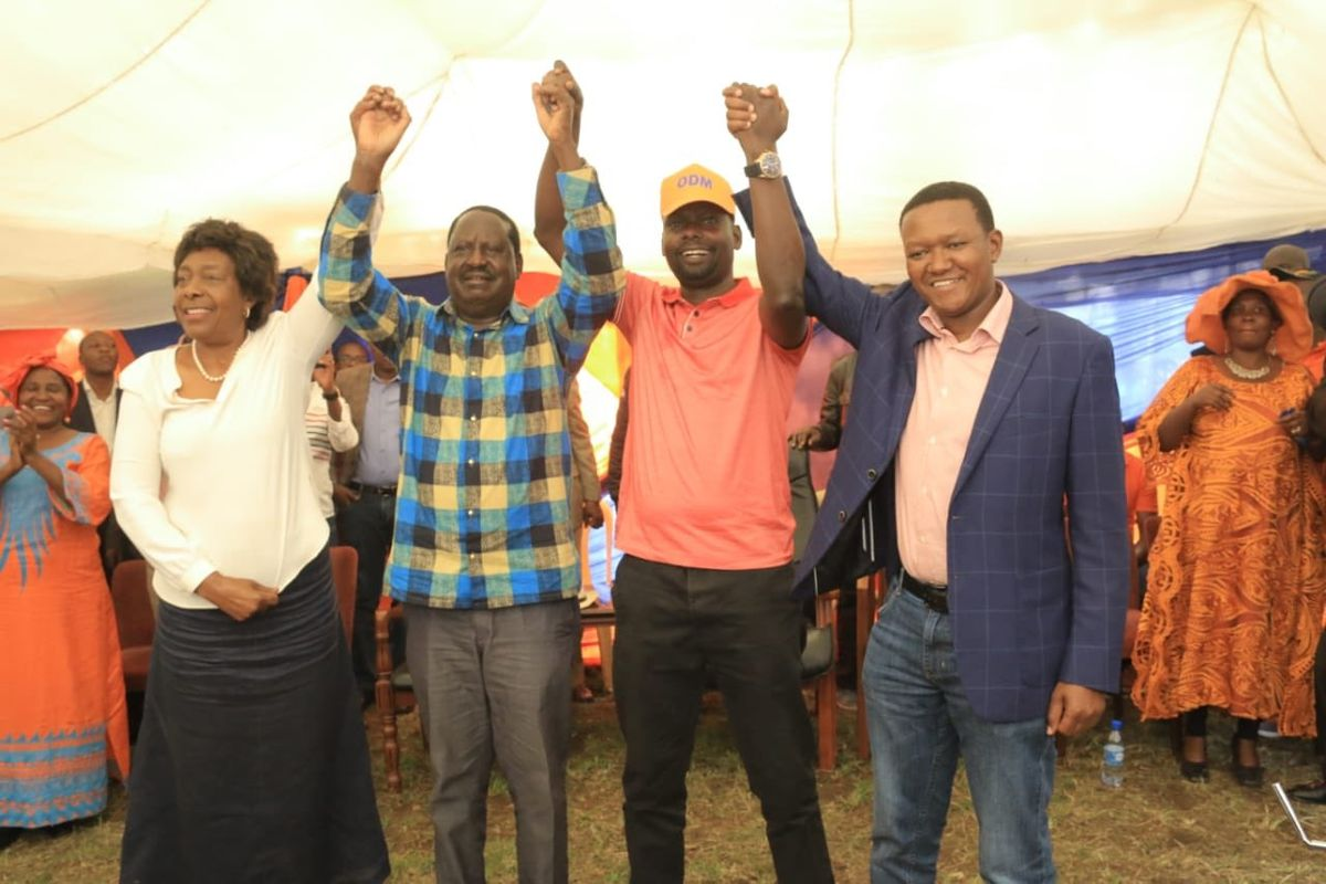 Image result for raila with Ngilu and Mutua""