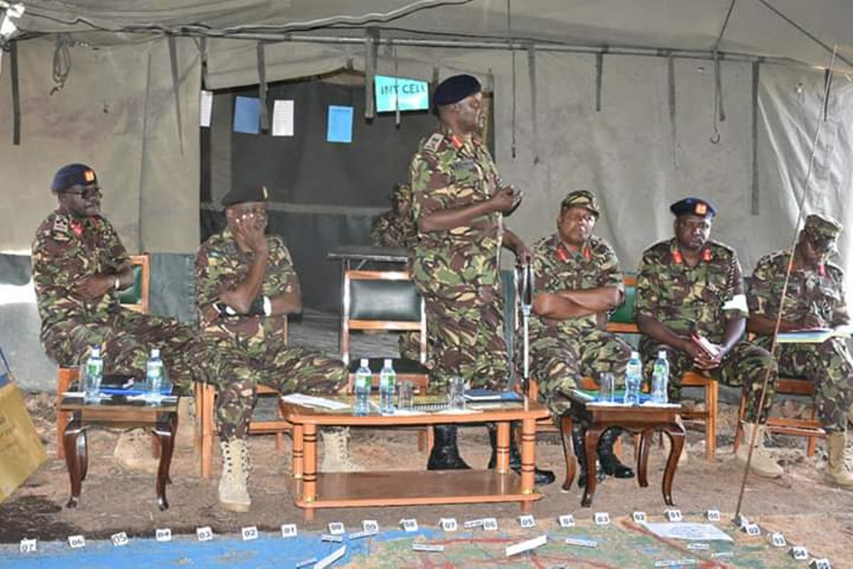 KDF commander leads in deadly drill in Laikipia