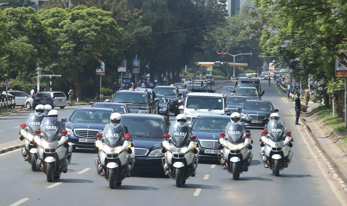 Image result for President Uhuru's motorcade
