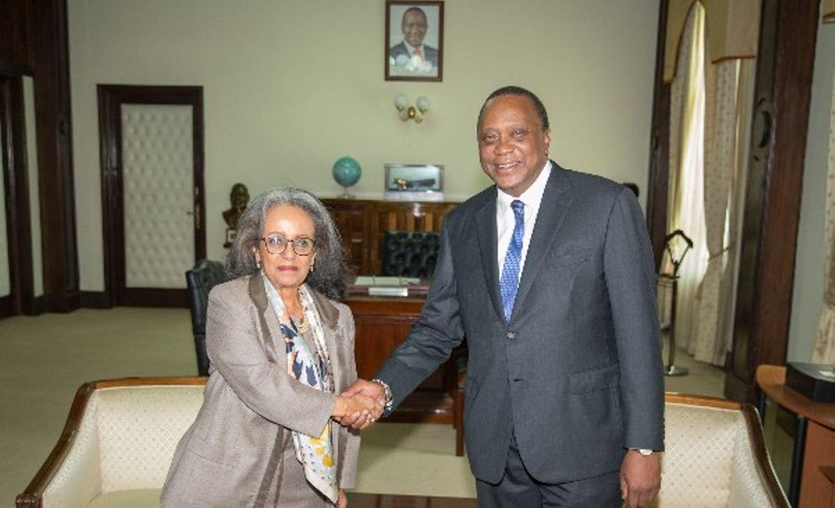 Image result for President Uhuru in Ethiopia