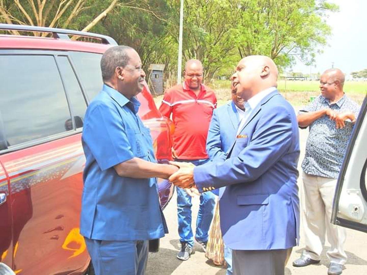 Image result for Raila Odinga with Gideon moi