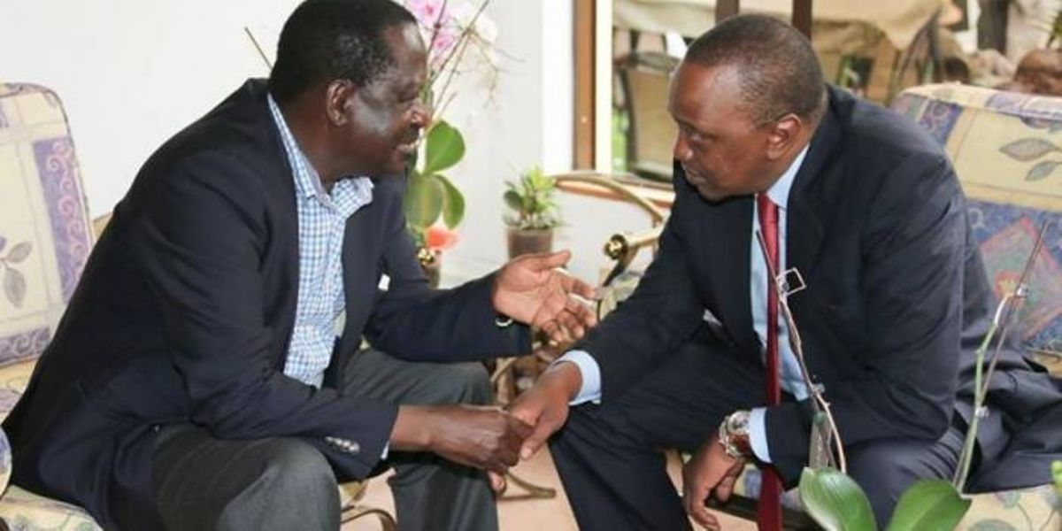 Image result for Raila and Uhuru
