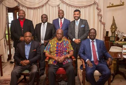 Raila Odinga holds talks with Daniel Moi in Kabarak