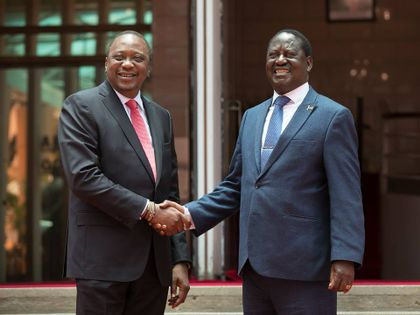 Kenya's president and opposition leader pledge to heal divisions