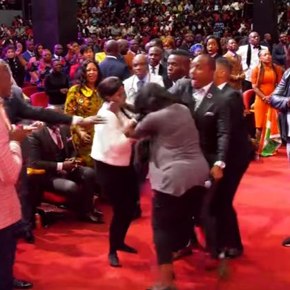 Church fist fight