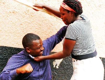 Image result for woman beating her husband kenya