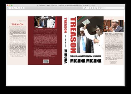 Image result for images of Miguna Miguna's book treason