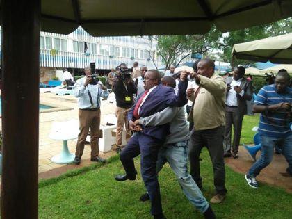 Dramatic interruption to business association's presser on state of Nairobi
