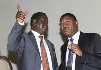 Image result for Raila and Wetangula