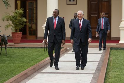 Four days into official visit, Tillerson falls sick in Kenya, cancels engagements