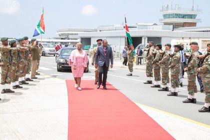 Kenyatta headed back home after South Africa visit