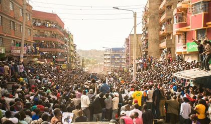 President Uhuru, Wanyama mesmerized by Olunga hat trick