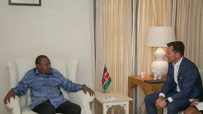 Uhuru departs from South Africa