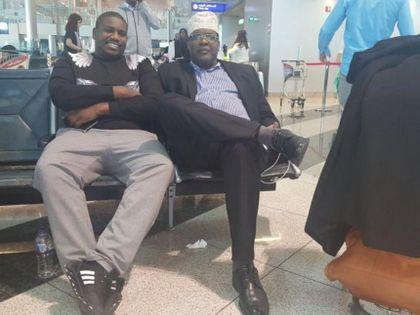 Raila Odinga arrives at JKIA as Miguna's drama escalates